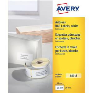 Avery (89 x 36mm) Personal Label Printer Roll Labels Roll of 280