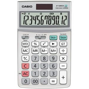 Casio JF-120ECO-W-EH Desktop Calculator 12-Digit