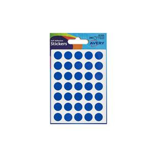 Avery Round Labels in Packets (Various Sizes, Colours)