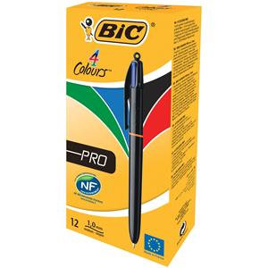 Bic 4-Colour Pro Ballpoint Pen 1.0mm Tip Width Assorted