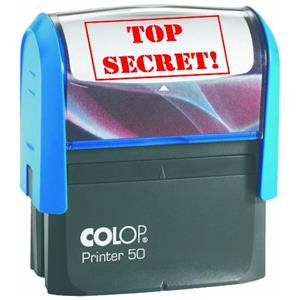 Colop Printer 50 (69 x 30mm) Word Stamp TOP SECRET Red Ink (Single)