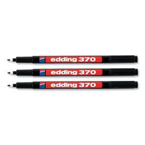 Edding 370 Permanent Marker Bullet 1.0mm Line Black