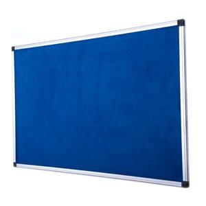 Bi-Silque Fire Retardant Notice Board Fabric Surface (Blue) with Aluminium Frame