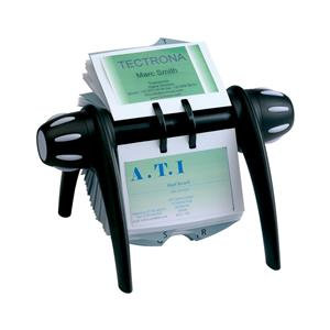 Durable Visifix Flip Rotary Index with 200 Pockets (Black) for 400 Business Card