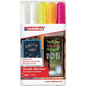 Edding 4095 Chalk Markers Bullet Tip (Assorted Colours)