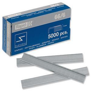 Esselte Rapid (66/6) Strong Staples 6mm Shank Length