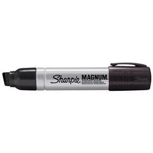Sharpie Magnum Metal Permanent Marker Large Chisel Tip 14.8mm Line Black