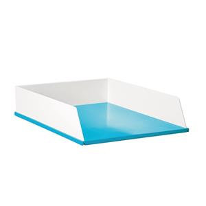 Avery Brilliance Letter Tray (White/Blue)