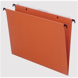 Esselte Orgarex Foolscap Suspension File Kraft V-Base Orange 50 Files