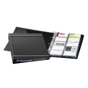 Durable Visifix A4 Business Card Album Charcoal for 400 Business Cards