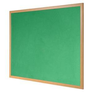Bi-Office Earth-it (1800 x 1200mm) Felt Notice Board Wood Frame (Green)
