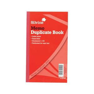Silvine Duplicate Book Memo Ruled Feint 1-100