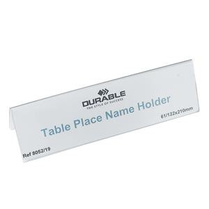 Durable (61x120mm) Table Place Name Holder (Transparent)