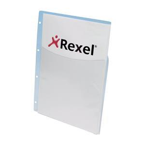 Rexel Nyrex (A4) Heavy Duty Extra Capacity Pockets (Clear)