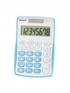 Genie 120S Compact Pocket Calculator with 8 Digit Display