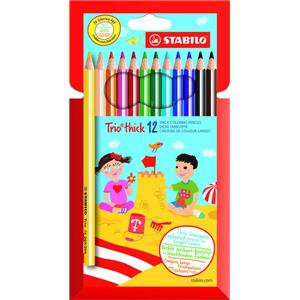 Stabilo Trio Thick Colouring Pencils (Assorted Colours) Lead diameter 4.2 mm