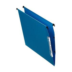 Esselte Orgarex Lateral File Kraft 220g/m2 V-base 15mm Capacity W330mm Blue