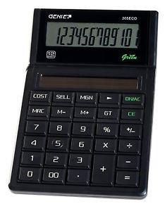 Genie 305 Eco 12-Digit Desktop Calculator