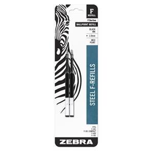 Zebra F-Refill Ballpoint Pen Refill 1.0mm Tip Black