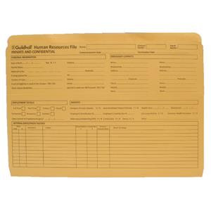 Guildhall Pre-Printed HR File Yellow