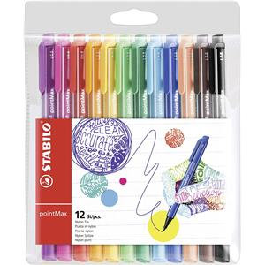 STABILO pointMax (0.8mm) Premium Fineliner Pens (Assorted Colours)