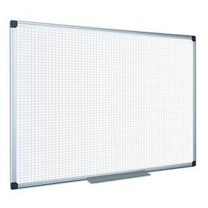 Bi-Office Maya (2400 x 1200mm) Non-Magnetic Gridded Drywipe Board Clip-on Pen