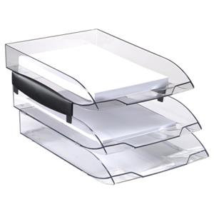 CEP (A4) Ice Black Letter Tray (Clear)