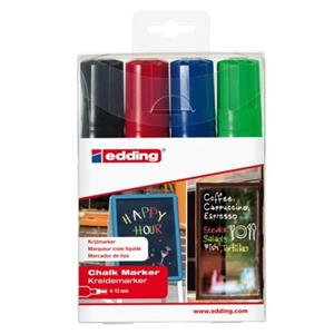 Edding 4090 Chalk Markers Chisel Tip ( Assorted Colours: Black/Red/Blue/Green)