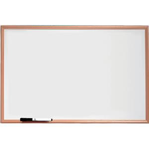 Nobo Basic Melamine (900x600mm) Non Magnetic Whiteboard with Pine Trim and Mount