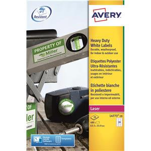 Avery Heavy Duty Laser Labels (White) (Various Sizes and Pack Sizes)