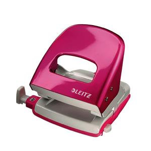 Leitz Durable Metal Hole Punch (Metallic Pink) 30 Sheets of 80gsm Paper