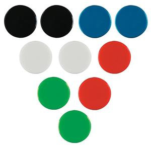 Nobo (20mm) Magnetic Round Marker (Assorted Colours) - 10 Magnetic Markers