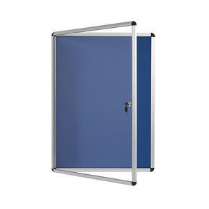 Bi-Office Enclore Indoor Felt Glazed Display Case (6 x A4) Aluminium Frame Lock