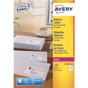 Avery QuickPEEL Addressing Laser Labels (Various Sizes and Pack Sizes)