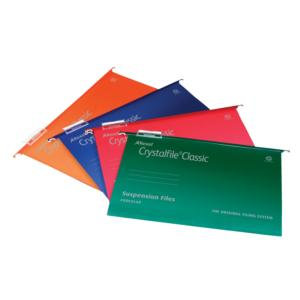 Rexel Crystalfile Classic (Foolscap) Suspension File 15mm / Pack of 50