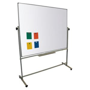 Magiboards 120x90cm Magnetic Double Sided Mobile Whiteboard with Lockable Wheels