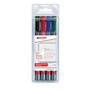 Edding 361/4S Whiteboard Marker Bullet Tip 1mm Line (Assorted Colour)