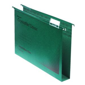 Rexel Crystalfile Classic Manilla Suspension File 30mm (Green) / Pack of 50