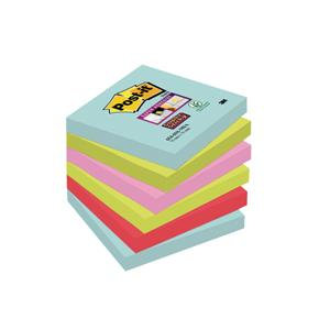 Post-It Super Sticky Re-positional Note Pads Assorted Colours / 90 Sheets