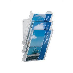 Durable Combiboxx (A4) Literature Holder Extendable Clear 3 Literature Holders