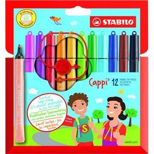 Stabilo Cappi Fibre Tip Colouring Pens (Assorted Colours)