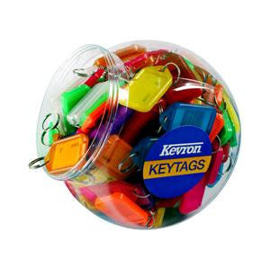 Kevron Clicktab Keyrings Tub of 150 (Assorted Colours)