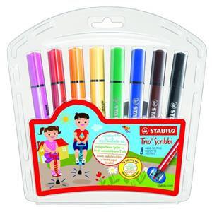 Stabilo Trio Scribbi Chunky Felt Pens (Assorted Colours)