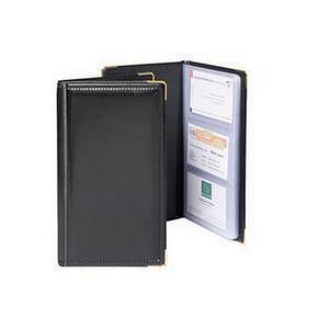 Goldline Business Card Holder 48 Pocket Black