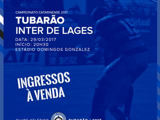 Serviço de venda de ingressos para Tubarão x Inter de Lages