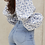 Thumbnail: Floral Print Square-Neck Puff-Sleeve Blouse