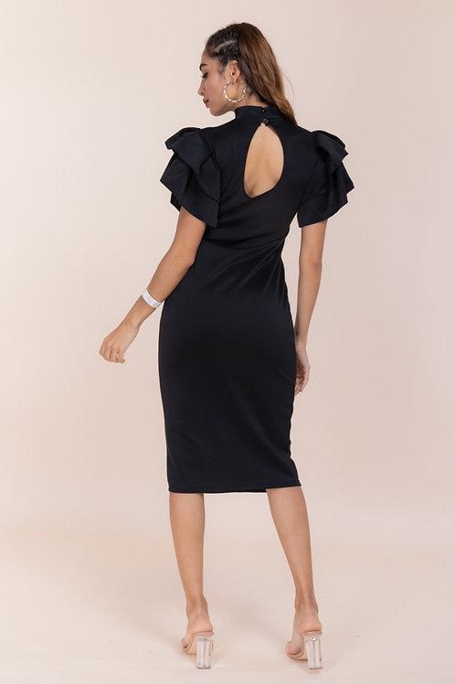 Ruffle Hallow Midi Dress