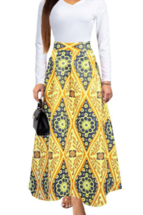 Graphic Maxi Skirt 2