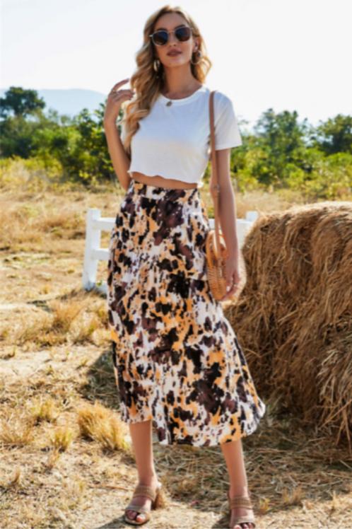 Earthtone Midi Skirt