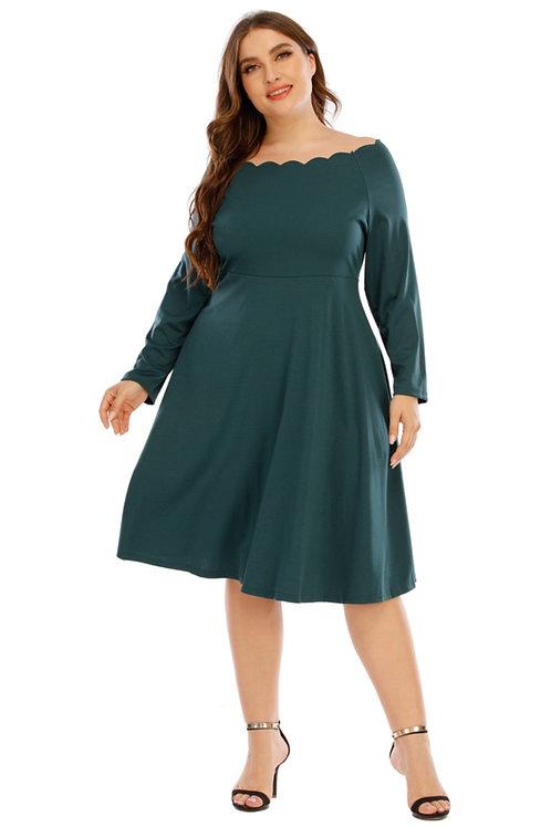 Off-the-shoulder Teacup Dress